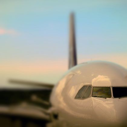 angled view of aeroplane