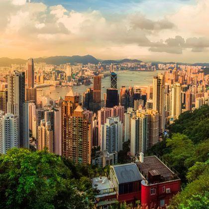 View of Hong Kong landscape