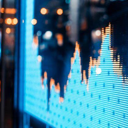 Stock market quotes - city scene